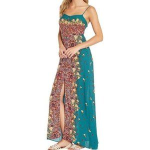 NEW FREE PEOPLE Teal Maxi Long Dress
